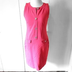 Tablots Pink Dress Popover Button Detail